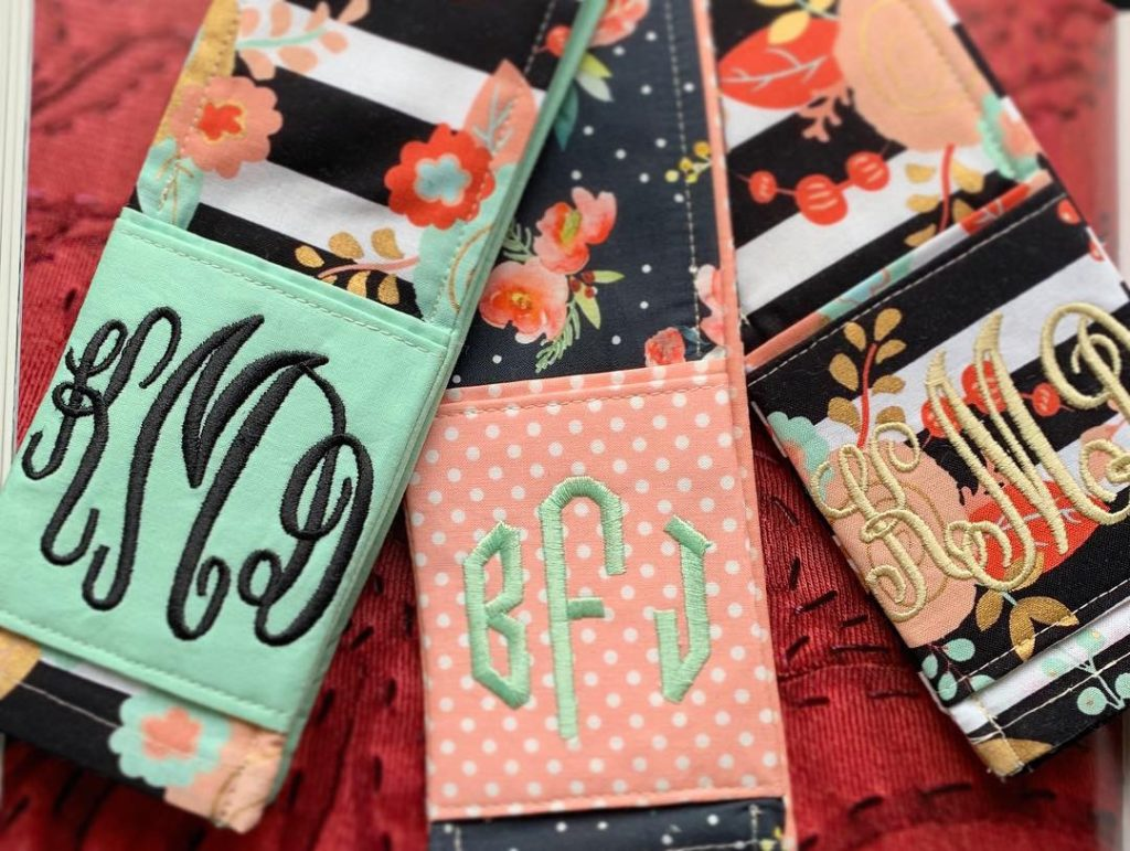 Monogrammed Camera Strap Covers